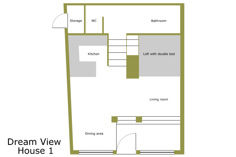 ground plan from the holiday house