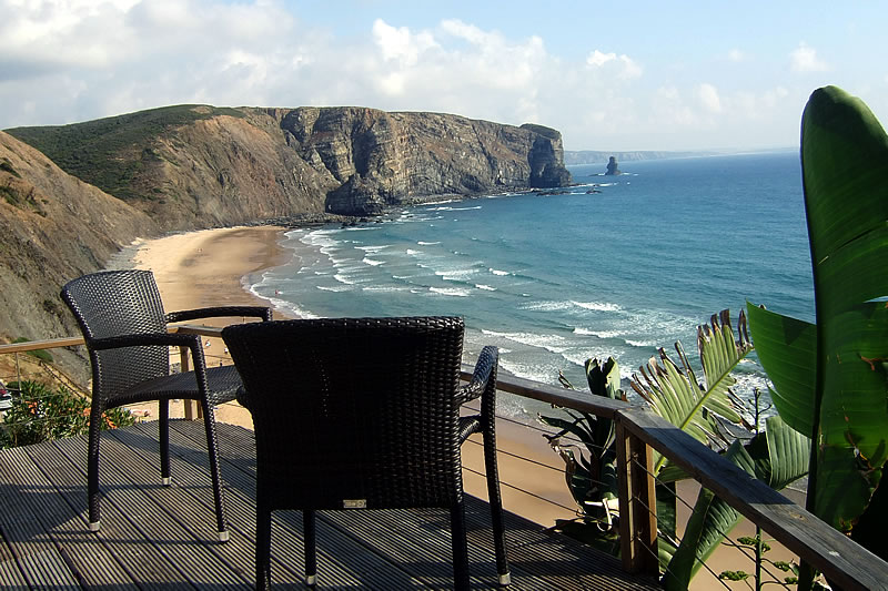 terrace of the holiday home with stunning ocean view